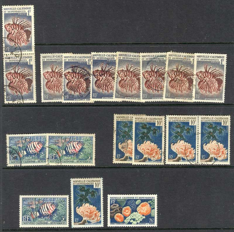 New Caledonia 1959 Fish Asst MH/FU 9796