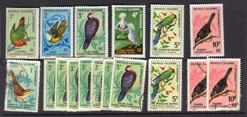 New Caledonia 1966-70 Birds Asst MH/FU 9805
