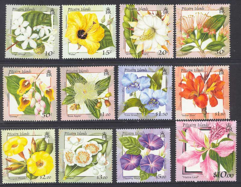 Pitcairn Is 2000 Flowers (12) MUH Lot9996
