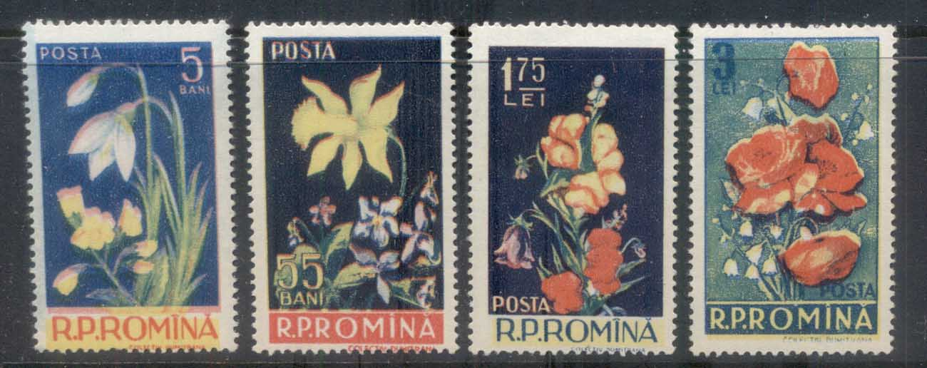 Romania 1956 Flowers MLH