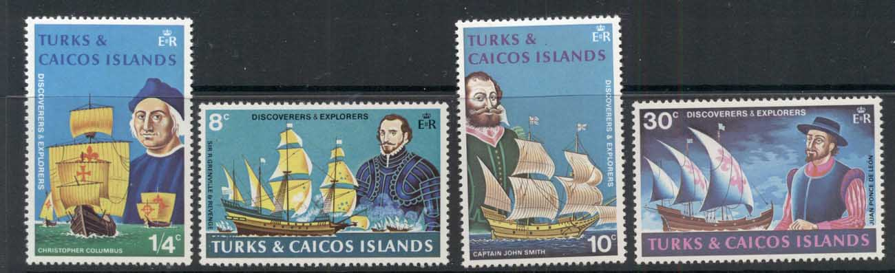 Turks & Caicos Is 1972 Discoverers & Explorers of the America's MUH