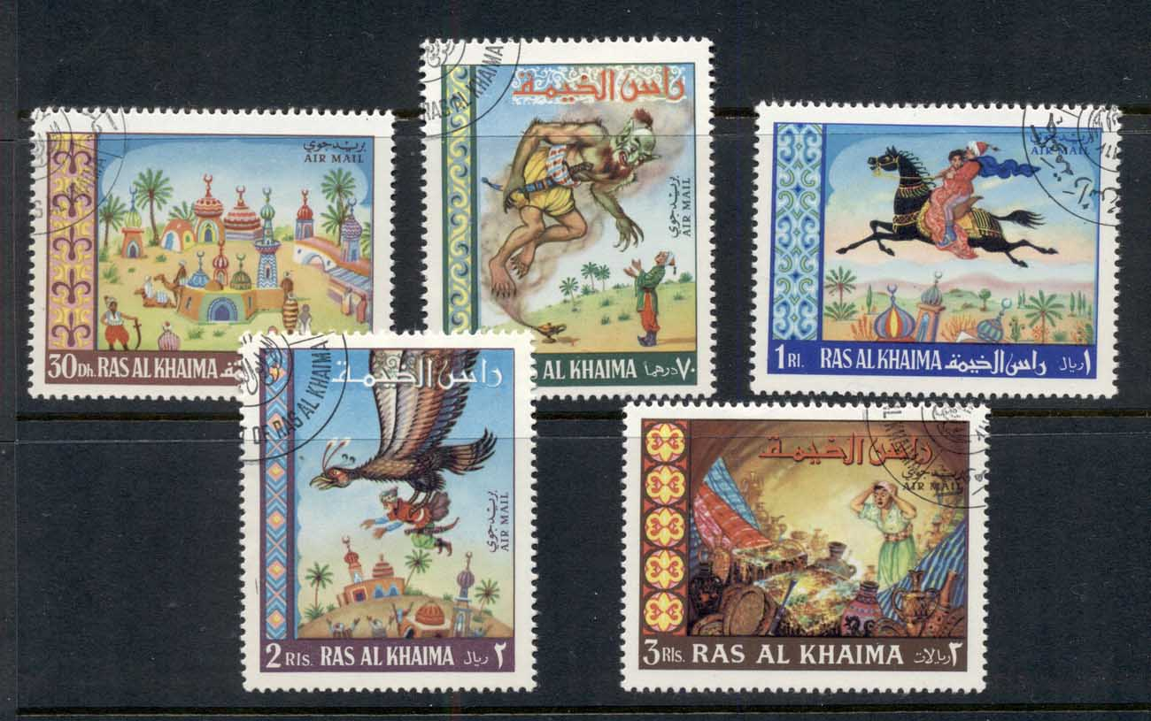 Ras Al Khaima 1967 Mi#156-160 Tales from the Arabian Nights CTO