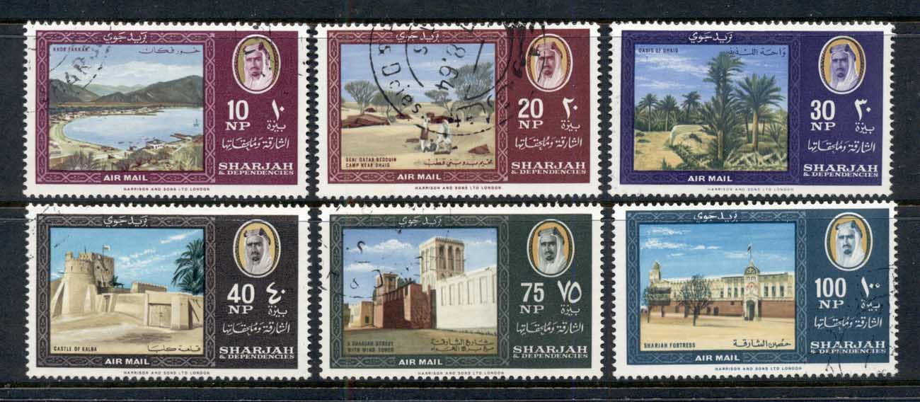 Sharjah 1964 Mi#81-86 Country Impressions CTO