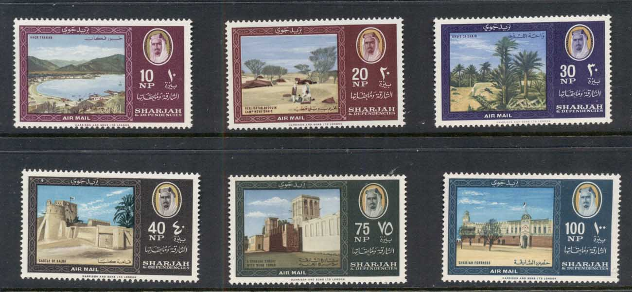 Sharjah 1964 Mi#81-86 Country Impressions MUH