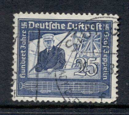 Germany Reich 1938 Count Zeppelin 25pf FU
