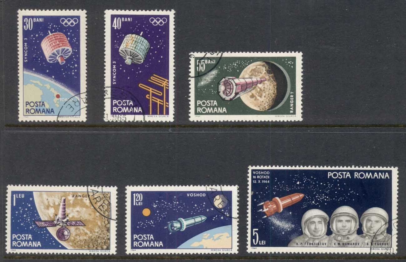 Romania 1964 Space Satellite CTO