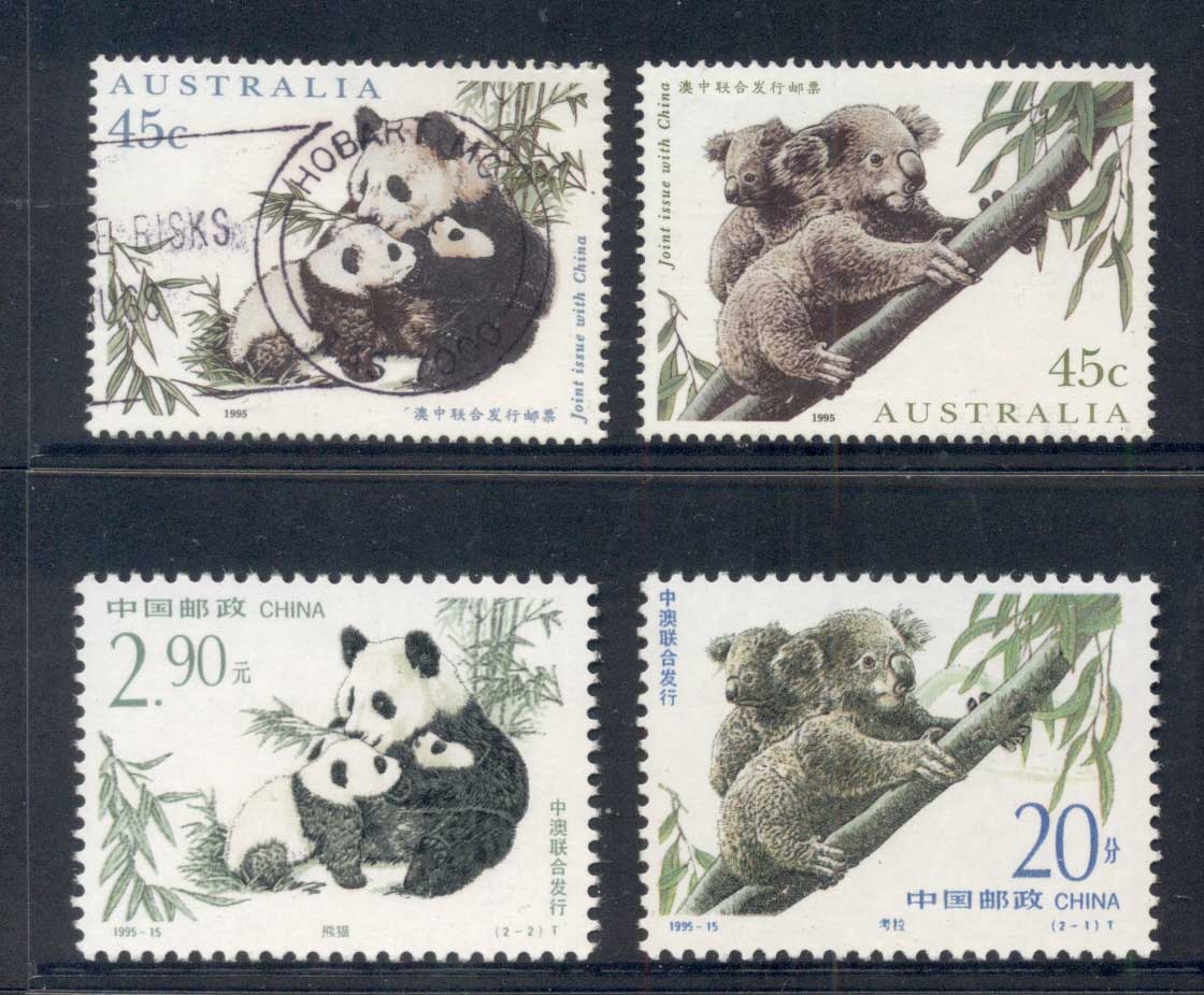 Australia 1995 Koala & Panda Joint China FU/MUH