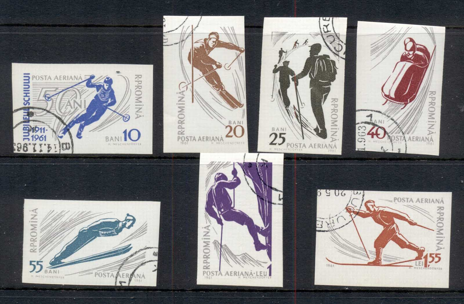 Romania 1961 Winter Sports IMPERF CTO