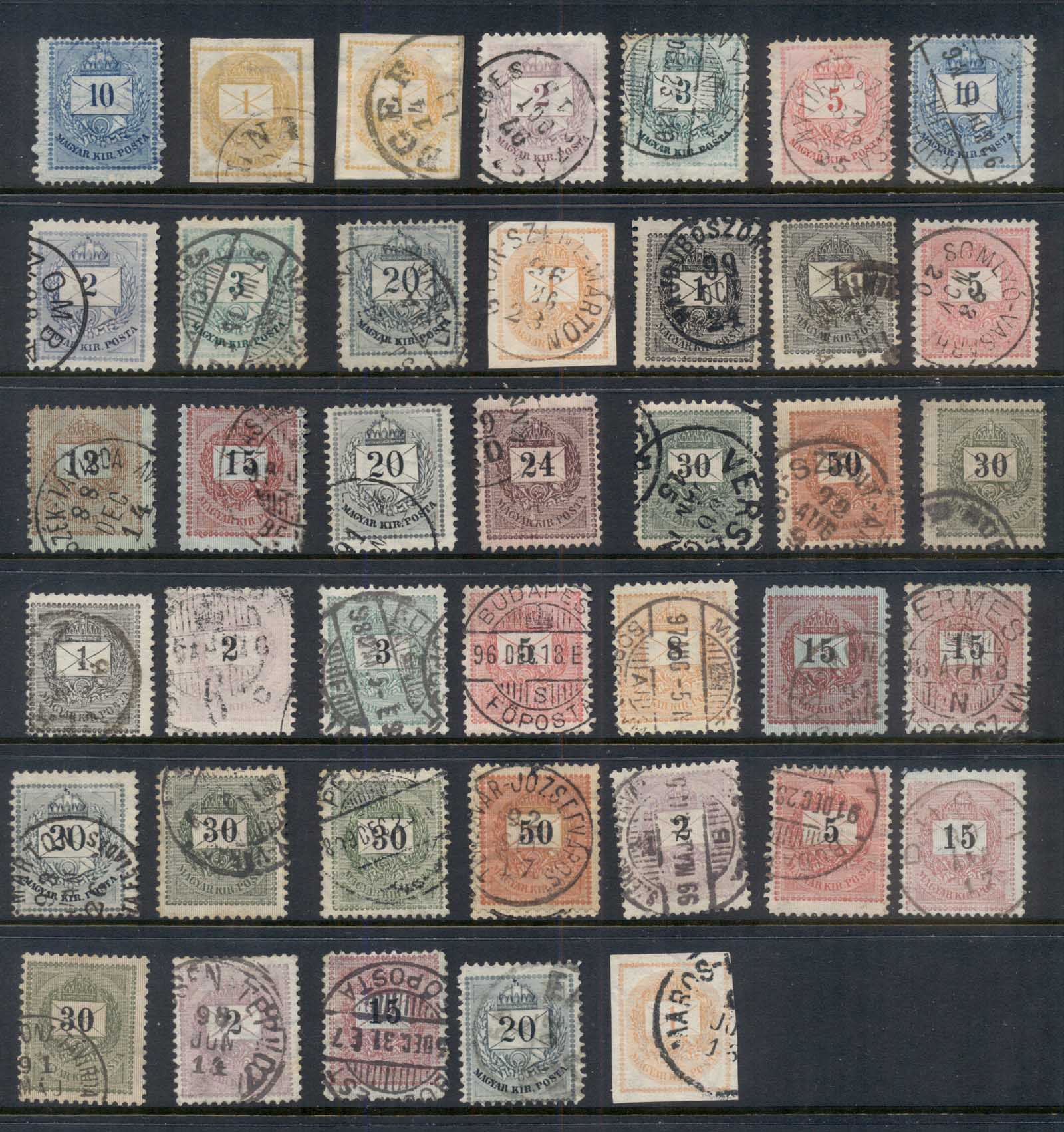 Hungary 1874-99 Numerals Assorted Fu