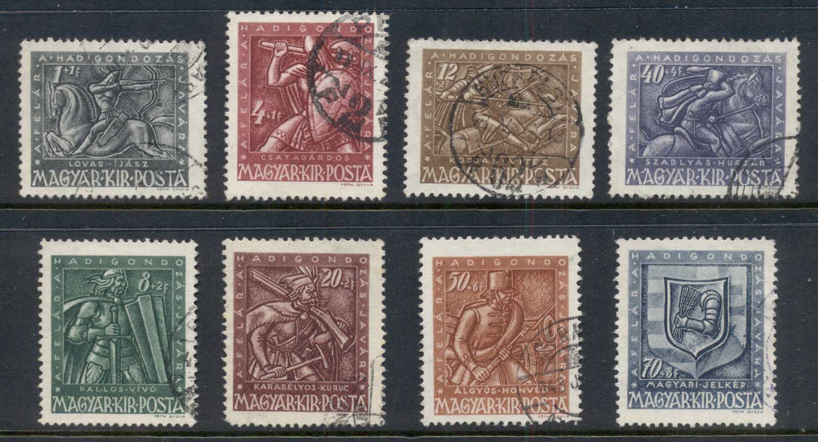Hungary 1943 War Invalida (8/9, no3f) FU