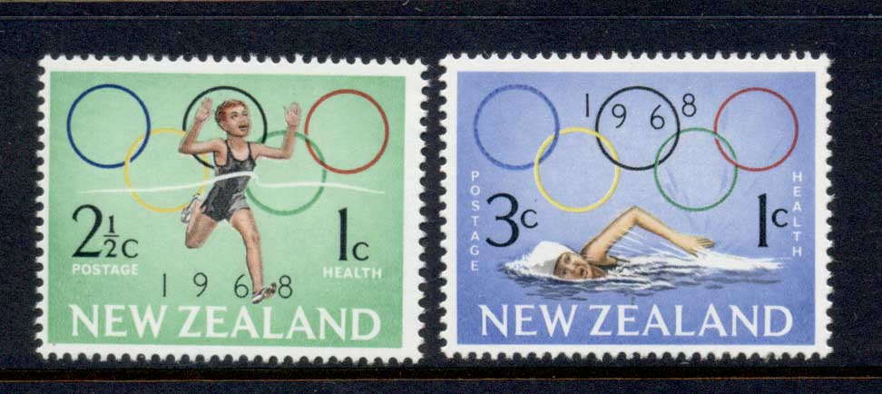 New Zealand 1968 Health Summer Olympics Mexico City MUH