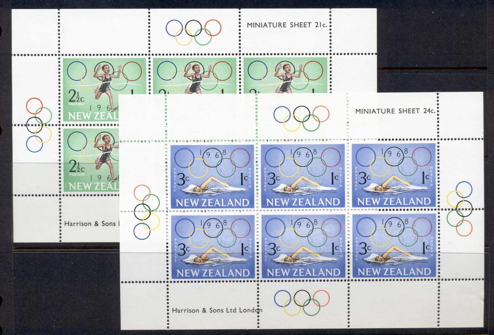 New Zealand 1968 Health Summer Olympics Mexico City 2xMS MUH