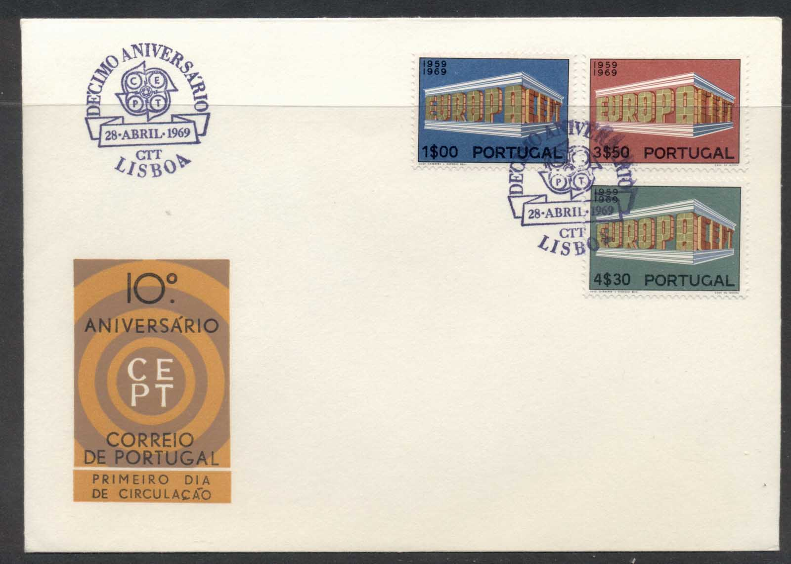 Portugal 1969 Europa Building FDC