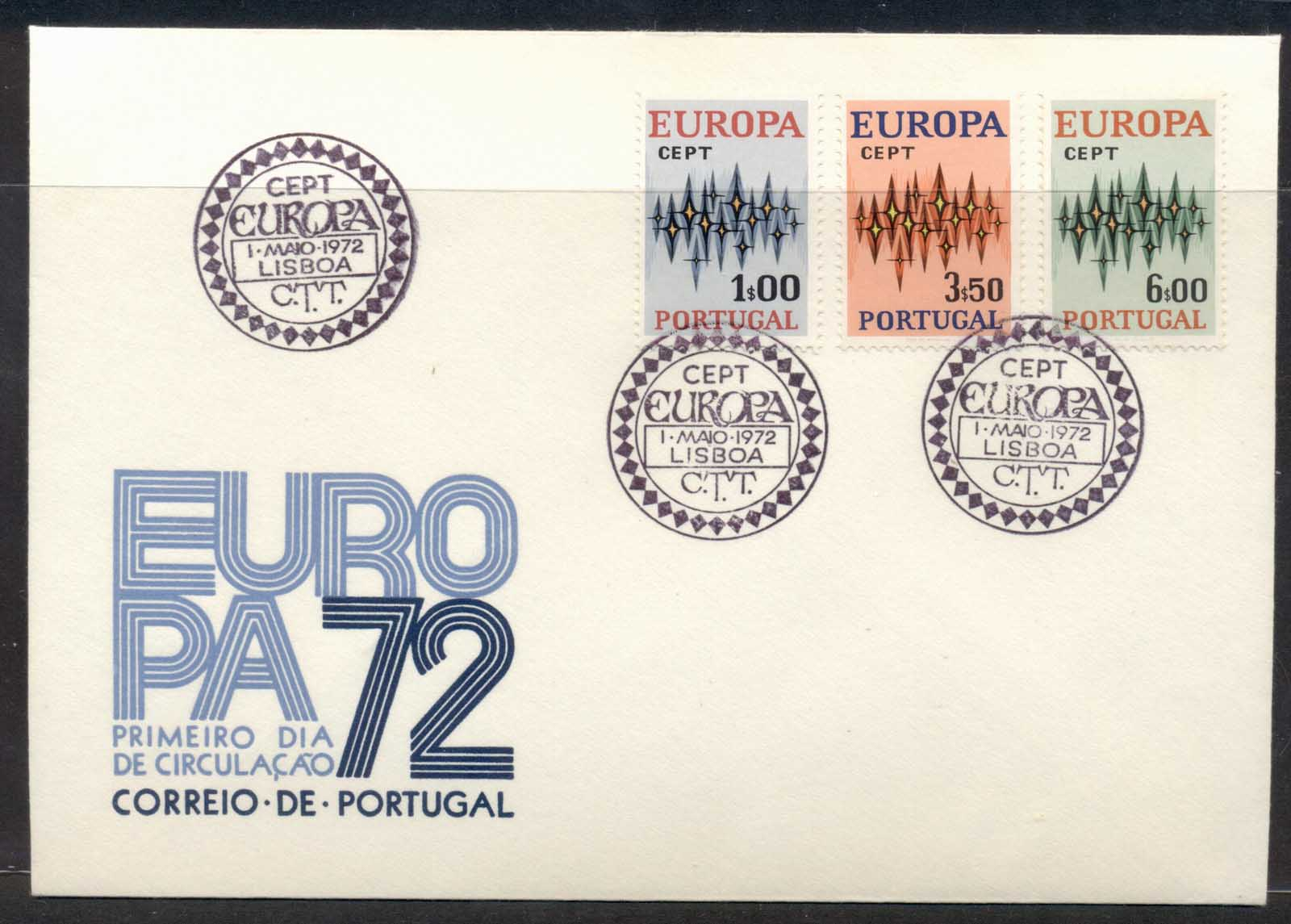 Portugal 1972 Europa Sparkles FDC