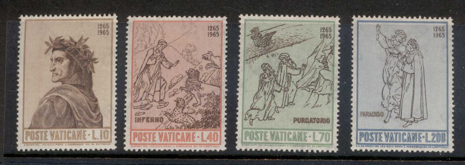 Vatican 1965 Birth of Dante Alighieri 700th Anniv. MLH