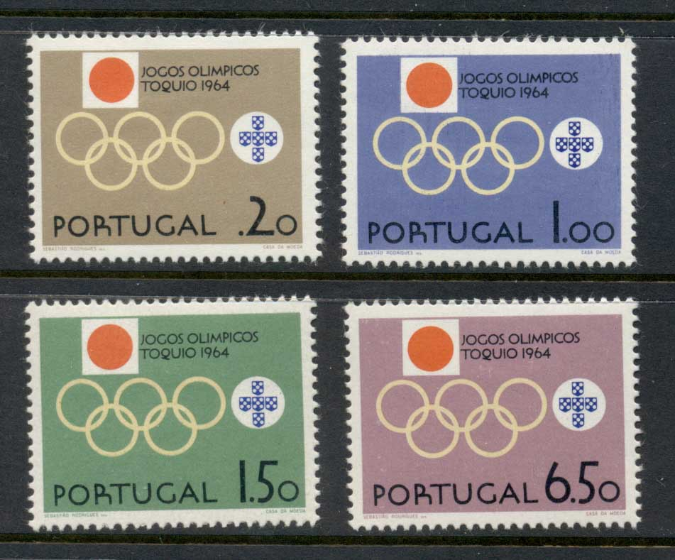 Portugal 1964 Summer Olympics Tokyo MLH
