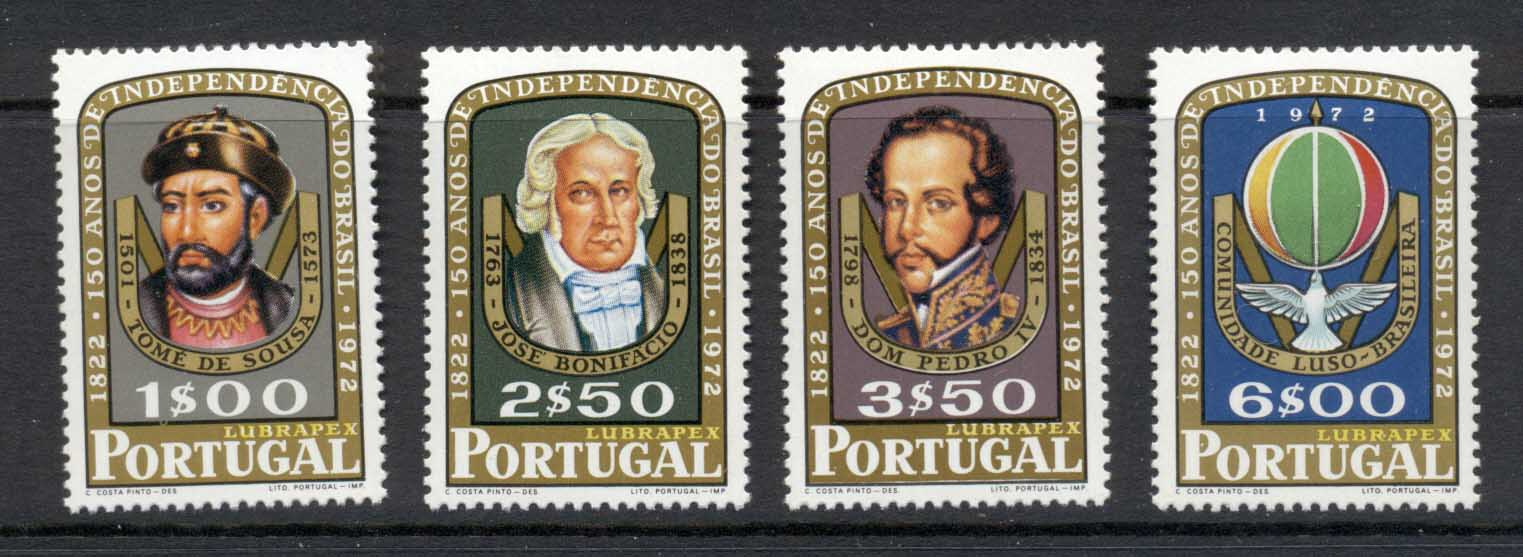 Portugal 1972 Brazilian Independence 150th Anniv. MUH