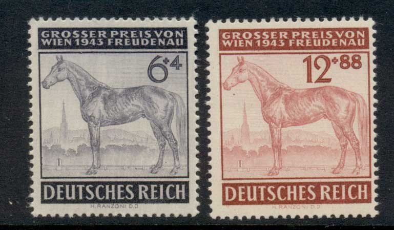 Germany Reich 1943 Race Horses MUH