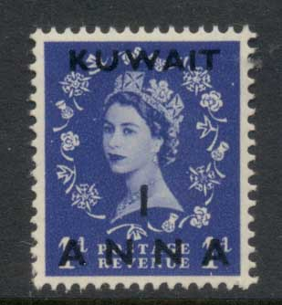Kuwait 1952-54 QEII Wilding Opt 1a on 1d MLH