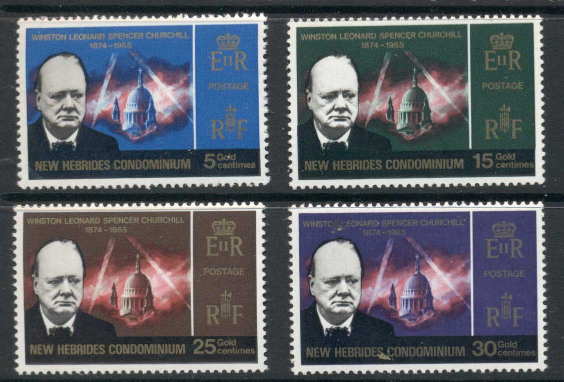 New Hebrides (Br) 1966 Churchill MUH