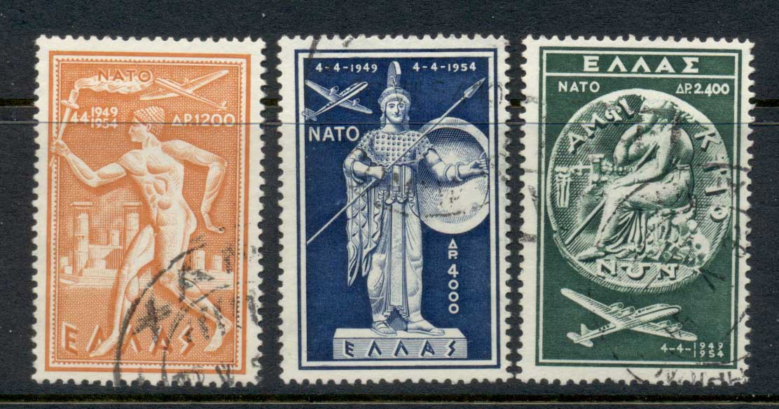 Greece 1954 NATO 5th Anniv. FU