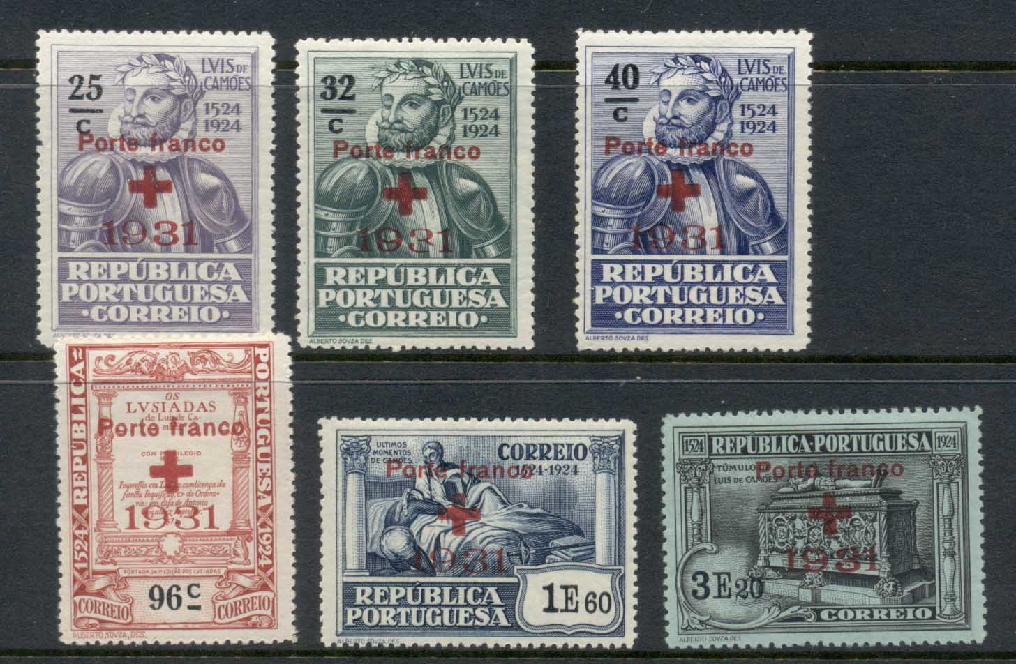 Portugal 1931 Red Cross Opts MUH