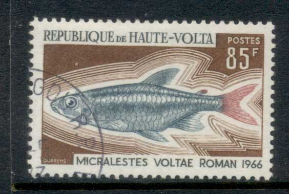 Upper Volta 1969 Fish 85f CTO