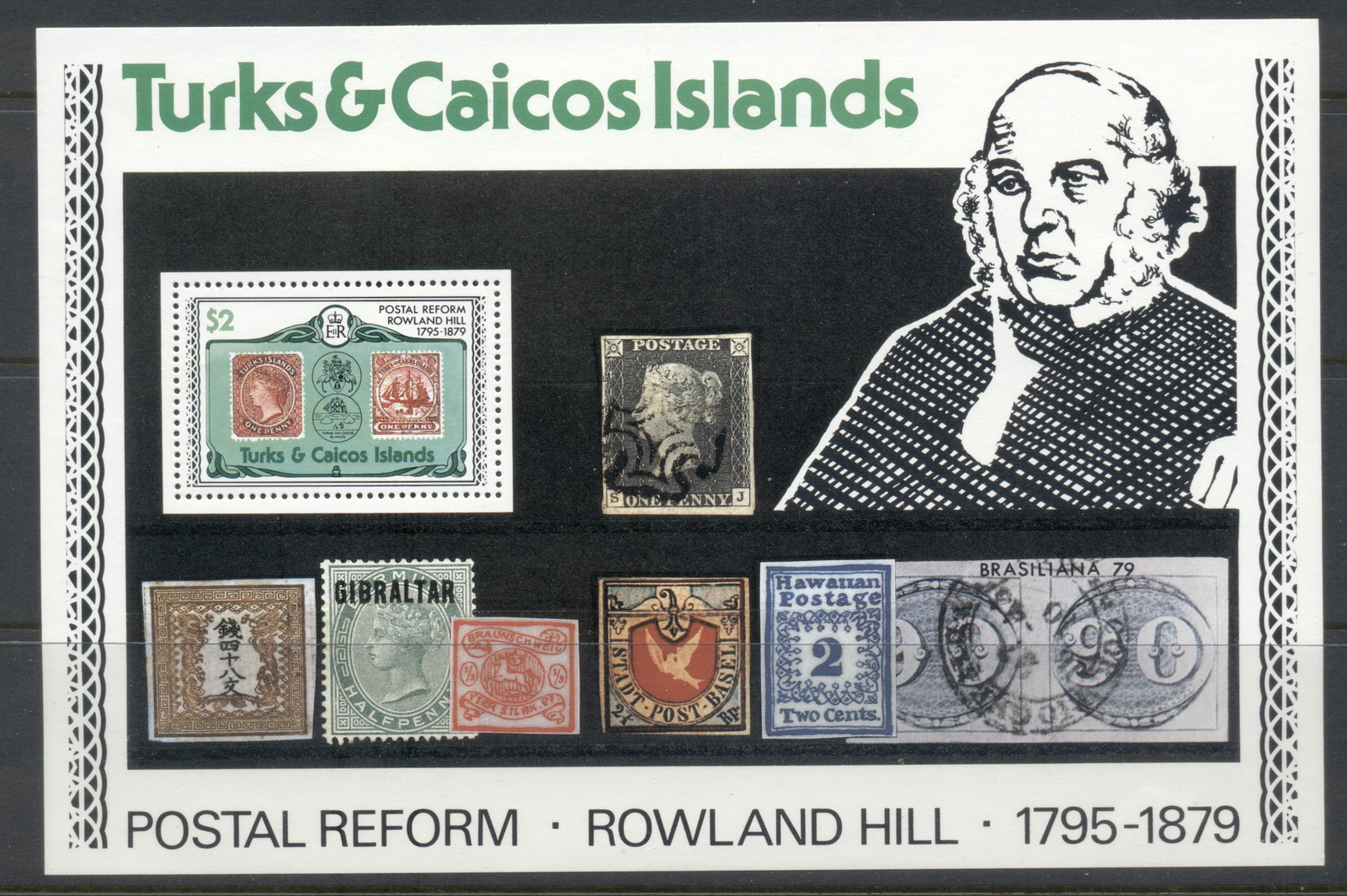 Turks & Caicos Is 1979 Rowland Hill MS MUH