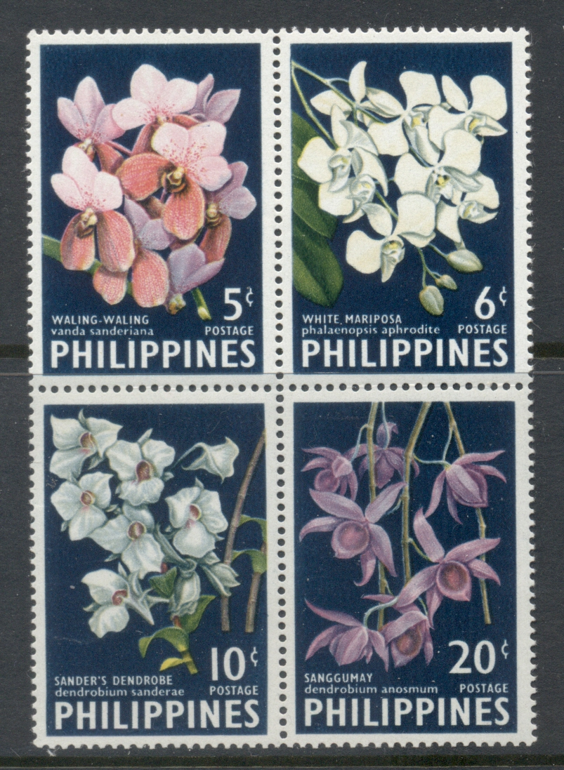 Philippines 1955 60 Flowers, Orchids MUH