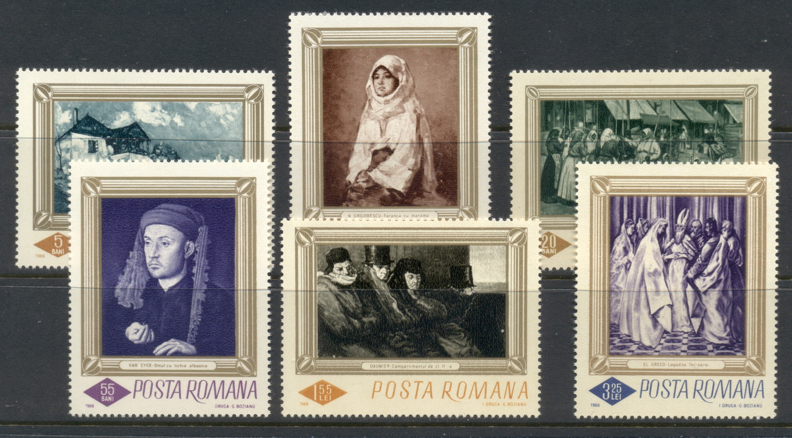Romania 1966 paintings MUH