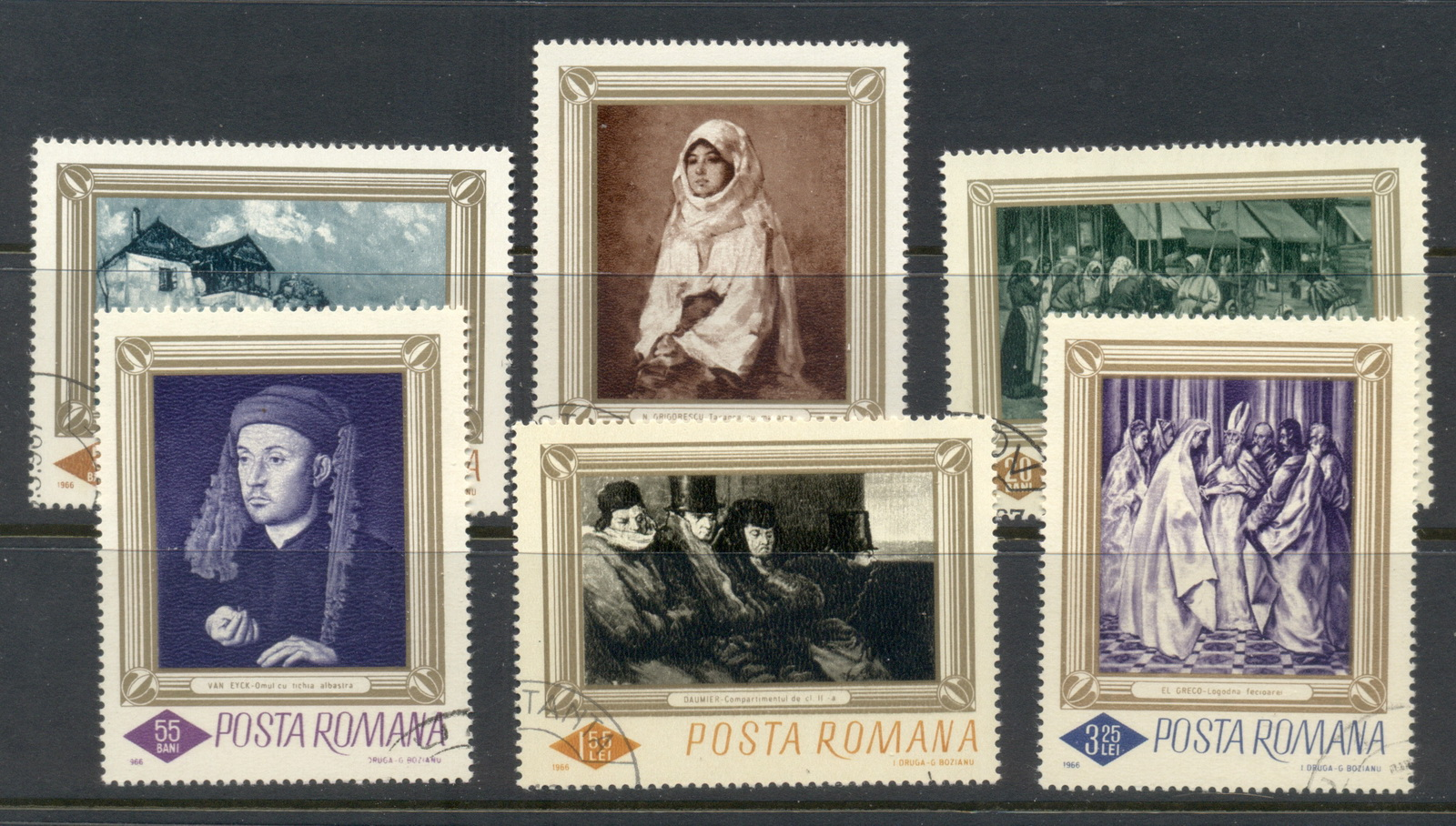 Romania 1966 paintings CTO