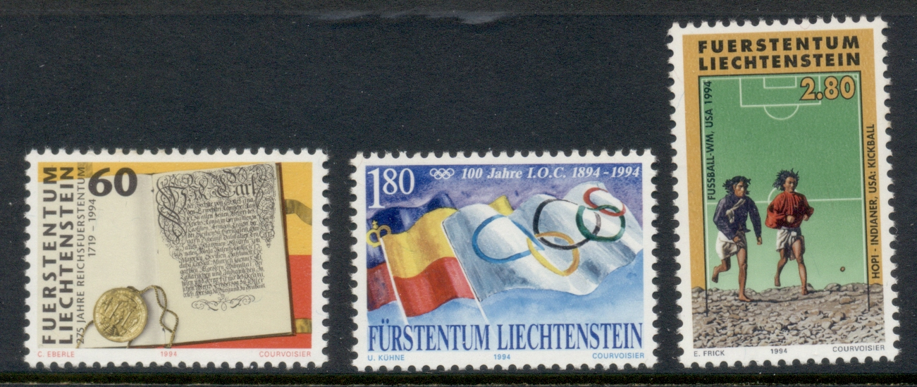 Liechtenstein 1994 Anniversaries & Events MUH