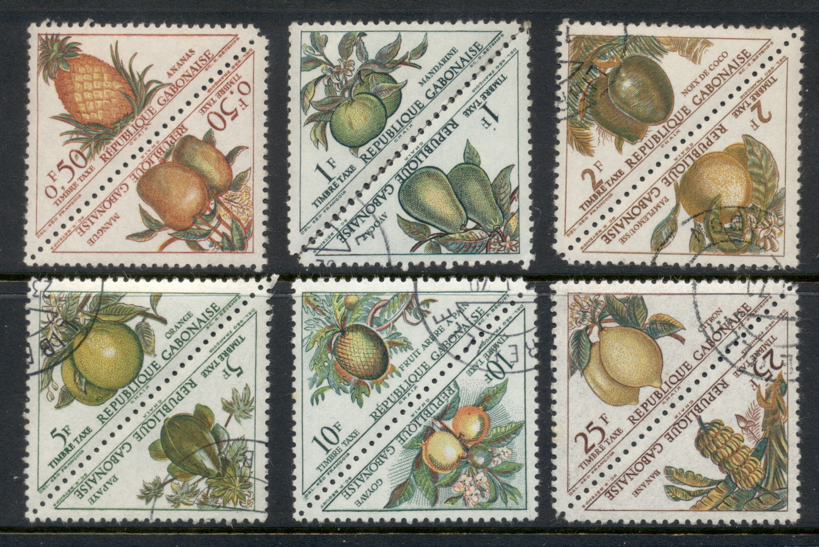 Gabon 1962 Postage Dues, Fruits MLH/CTO