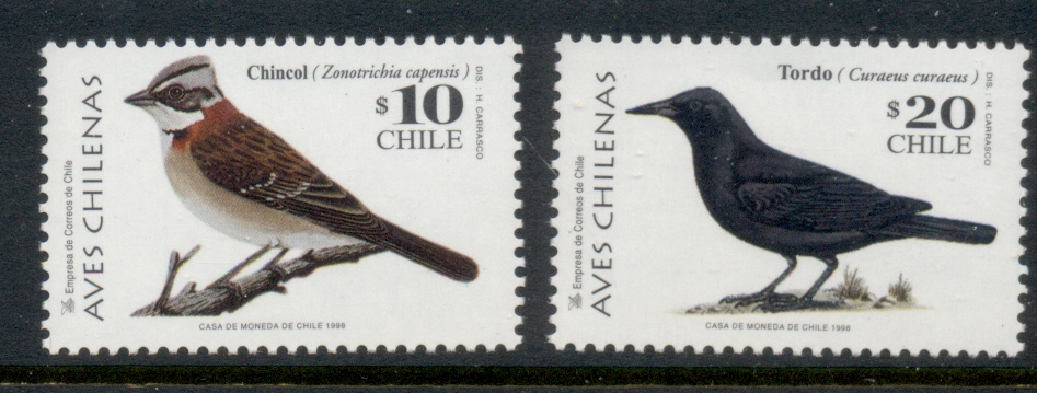 Chile 1998 Birds MUH