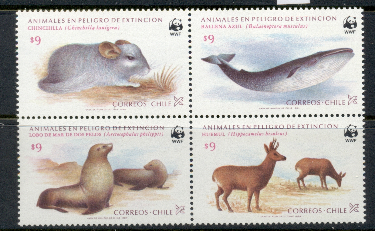 Chile 1984 WWF Endangered Species MUH