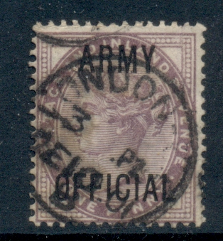 GB 1896 1d lilac opt. Army Official FU