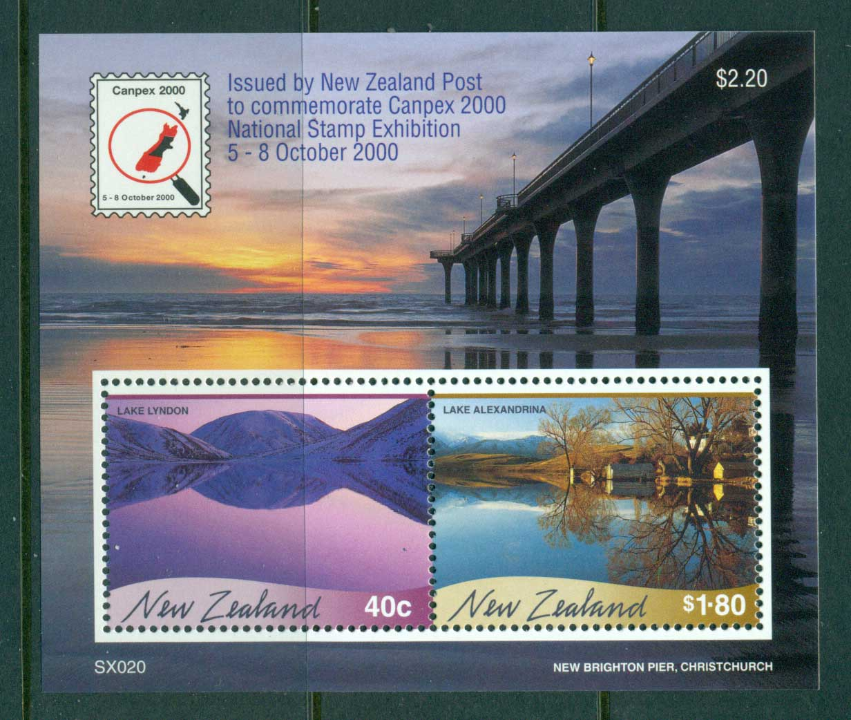 New Zealand 2000 Views Canpex MS MUH Lot29880