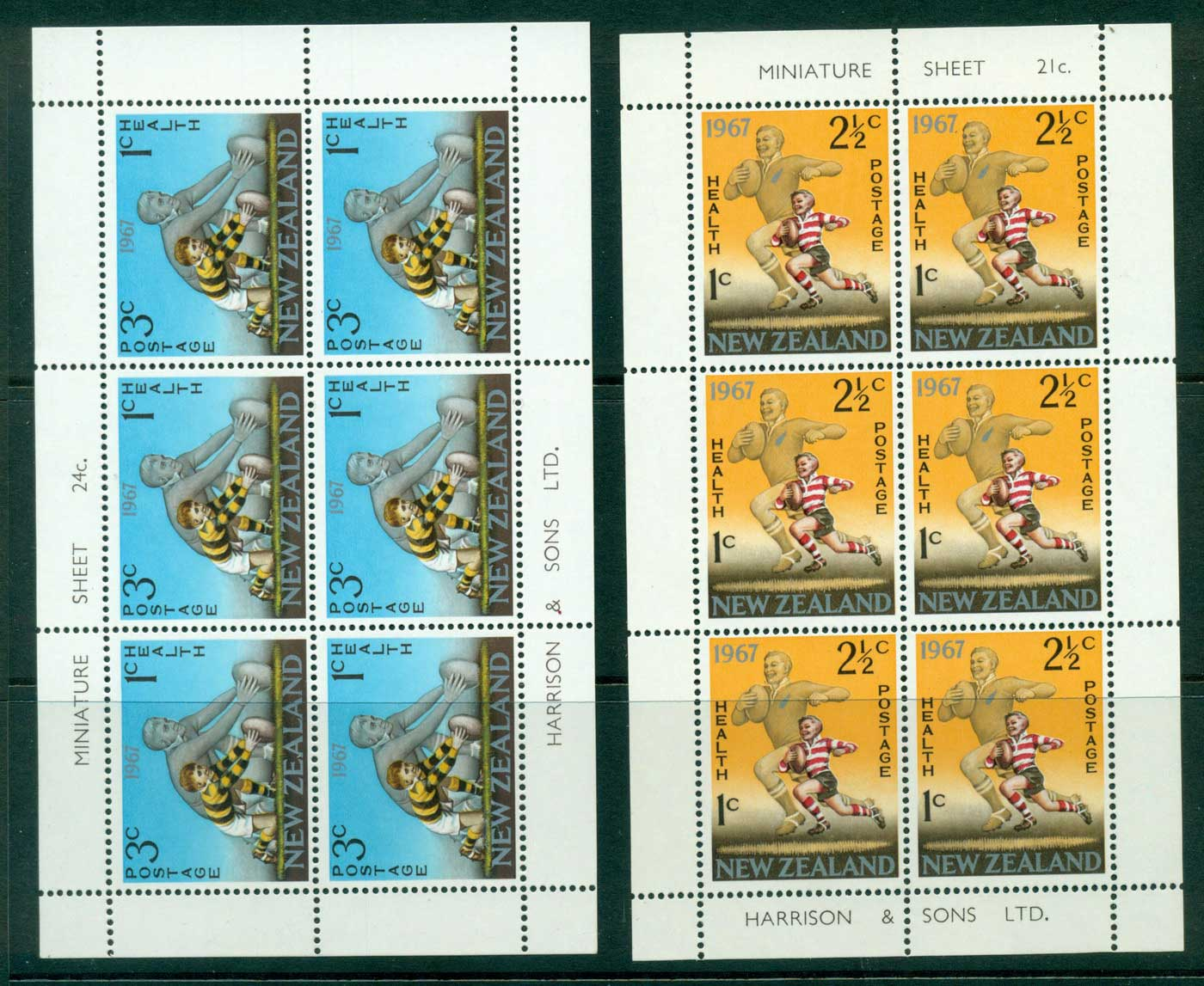 New Zealand 1967 Health 2x MS MUH Lot29900