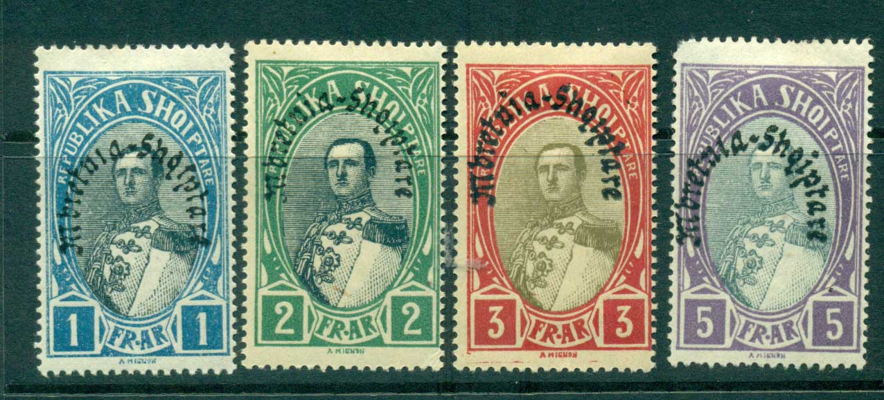 Albania 1928 King Zog Opt 1-5fr MLH lot31002