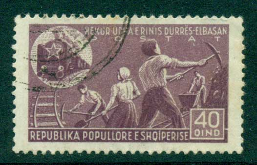 Albania 1947 Young railway labourers 40q FU lot31011
