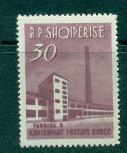 Albania 1963 30l Fruit Canning Plant MLH lot31043