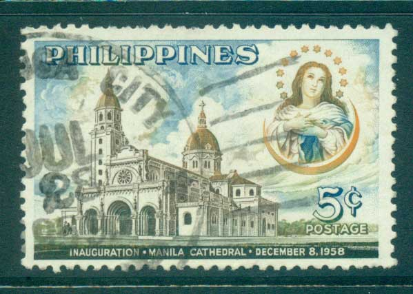Philippines 1958 Manila Cathederal FU lot31669