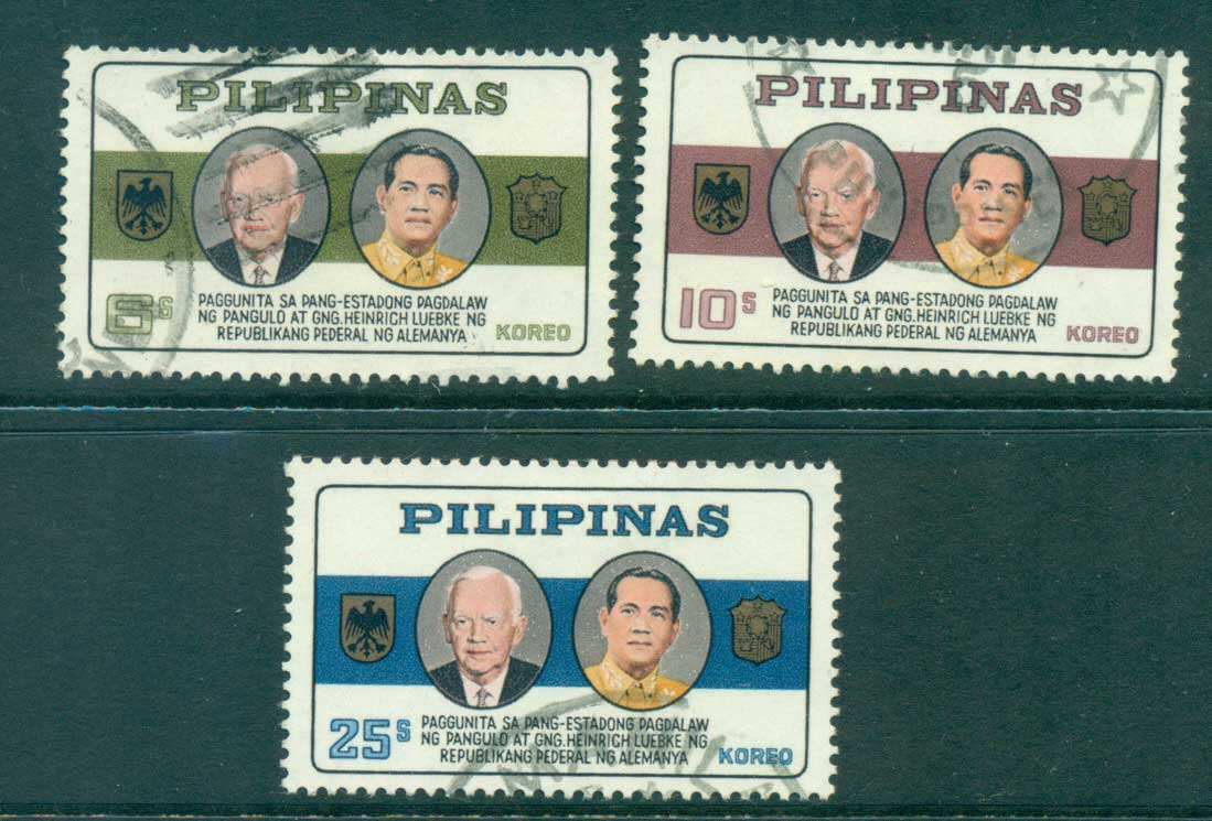 Philippines 1965 Pres. Lubke & Macapagal FU lot31691