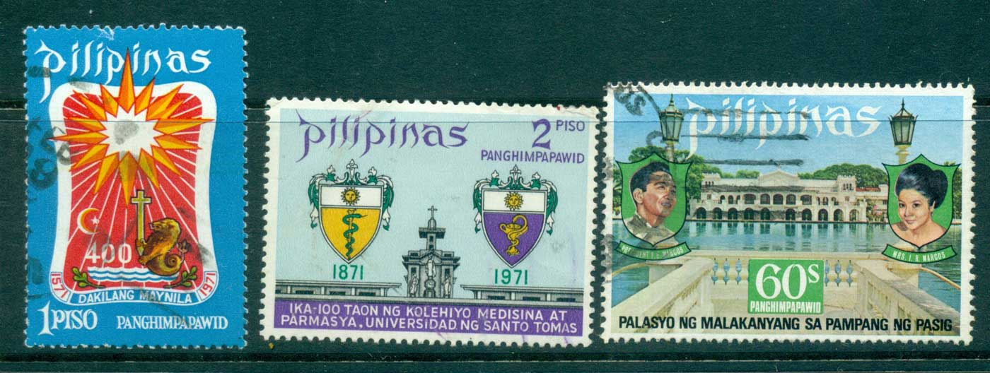 Philippines 1971-3 Airmail Asst FU lot31740