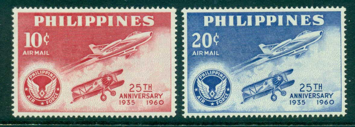 Philippines 1960 Air Force Anniv MLH lot34827