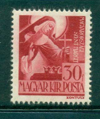 Hungary 1943 St. Margaret MLH lot37502