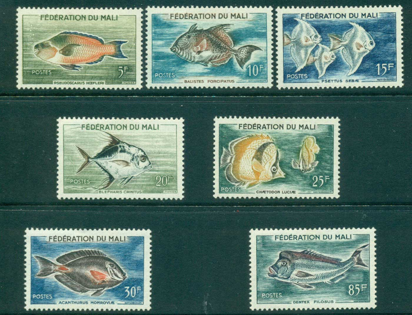 Mali 1960 Fish MLH lot38440