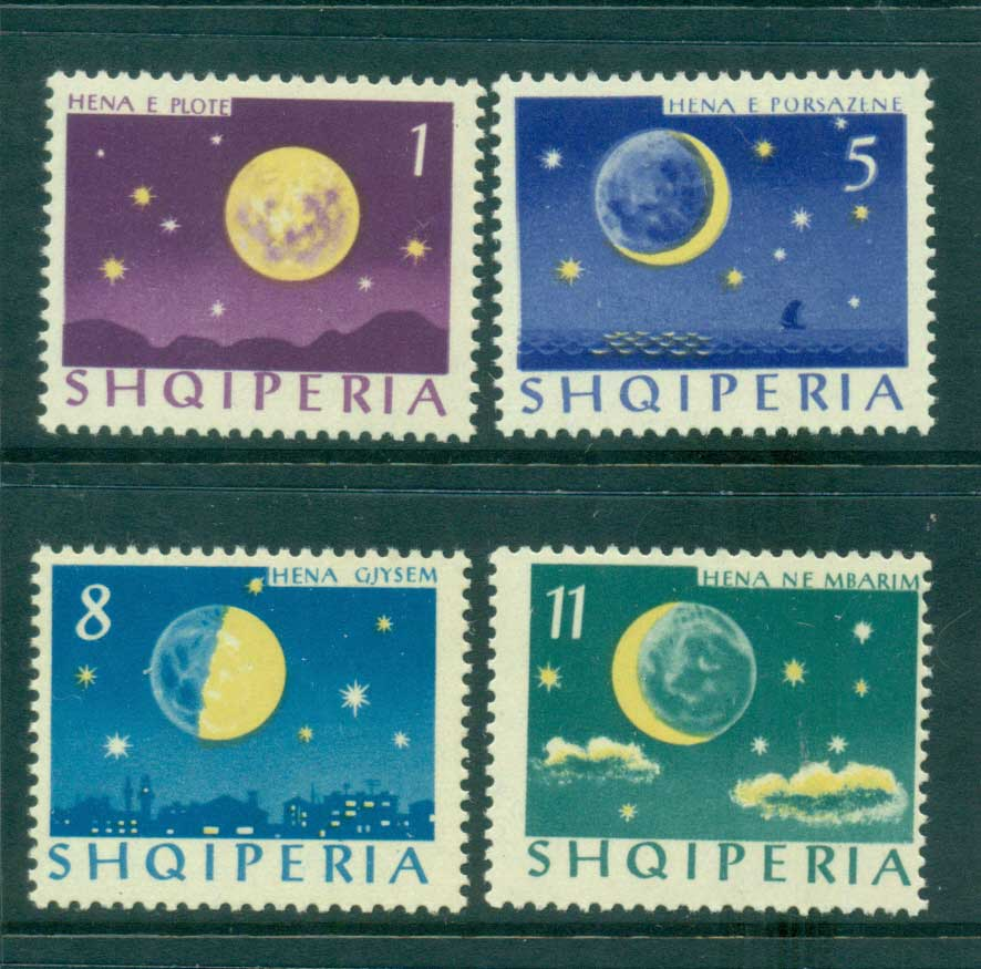 Albania 1964 Phases of the Moon MUH lot41554