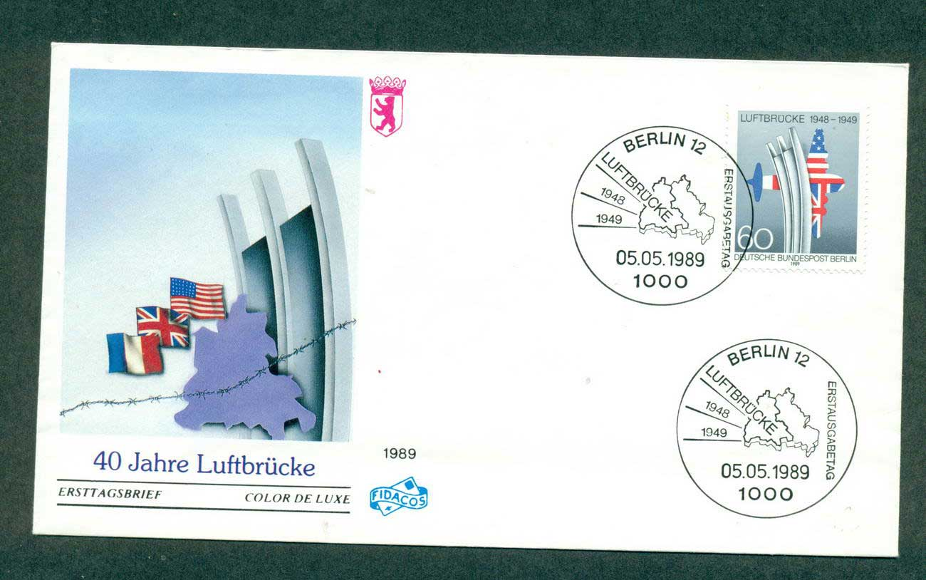 Germany 1989 Berlin Airlift Anniv FDC lot4267