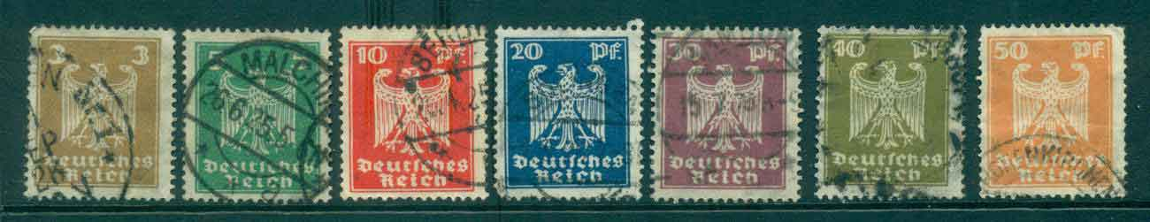 Germany Reich 1924-25 German Eagle FU lot43726